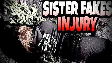 SISTER FAKES INJURY IN AN ATTEMPT TO GET WAITED ON!!!