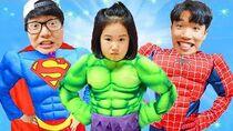 Boram becomes a superhero and saves her friends