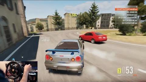 Forza Horizon 2 Nissan Skyline R34 Drift Build (For Paul) w Thrustmaster Wheel Cam