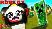ESCAPE MINECRAFT CREEPER IN ROBLOX! Roblox Creeper Chaos Let's Play with Combo Panda