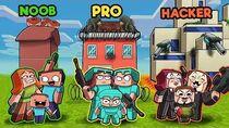 Minecraft - SECURE FAMILY HOUSE WAR! (NOOB vs PRO vs HACKER)
