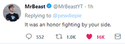 PewDiePie vs T-Series MrBeast surrenders