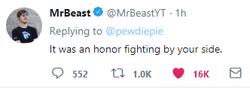 PewDiePie vs T-Series MrBeast surrenders