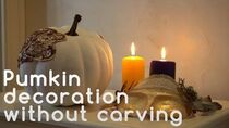 DIY Pumpkin Painted Decoration Without Carving
