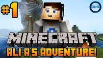 "Minecraft - Ali-A's Adventure 1! - ""FALLING SHEEP!"""