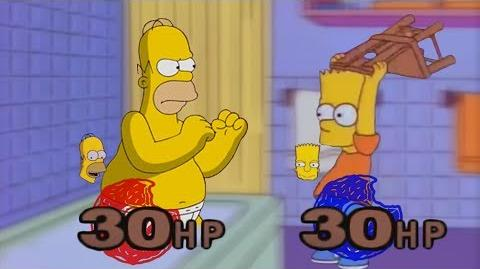 Bart challenges Homer to a 1 ON 1