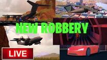 ROBLOX 🔴LIVE🔴 JAILBREAK NEW CARGO AIRPLANE ROBBERY UPDATE! ROAD TO 300 SUBS