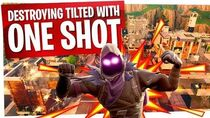 Destroying Tilted Towers With One Shot In Fortnite
