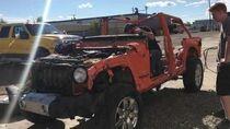 2013 Jeep Wrangler unlimited, runs & drive just a little road rash