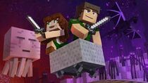 "♪ ""Through The Night"" - A Minecraft Original Music Video Song ♪"