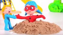 LADYBUG IS STUCK IN THE SAND ❤ PLAY DOH CARTOONS FOR KIDS