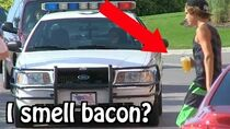 "Kids Drinking Beer PRANK ON COPS... ""I THINK I SMELL BACON"" ft"