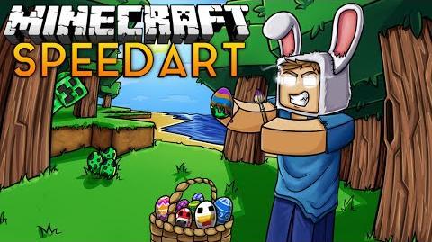 Minecraft Speedart - Herobrines Easter