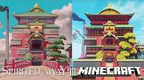 Spirited Away in Minecraft Tour (The Entire Movie)