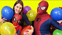 Balloons Dropped From The Ceiling & DisneyCarToys Pops Them To Find Toys Kids Toys