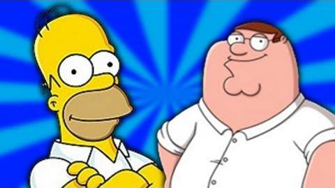 Homer Simpson vs Peter Griffin - Epic Rap Battles of Cartoons 9