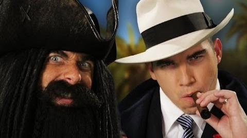 Blackbeard vs Al Capone. Epic Rap Battle of History Season 3