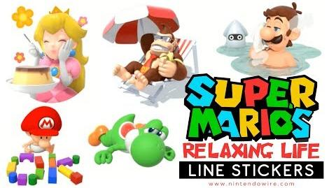 Super Mario's Relaxing Life Line Sticker Showcase