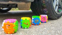 Crushing Crunchy & Soft Things by Car! EXPERIMENT Car vs RAINBOW CUBE