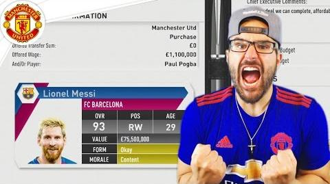 OMG MESSI ACCEPTS! *NOT CLICKBAIT* Manchester United FIFA 17 Career Mode 12