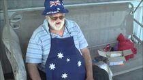 Angry Grandpa eats Australian Vegemite!!