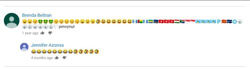 User commented emoji spam