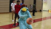 Disturbing students as Perry the Platypus