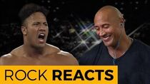 The Rock Reacts to His First WWE Match 20 YEARS OF THE ROCK