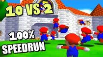 10 YOUTUBERS vs 2 SPEEDRUNNERS SM64 120 Stars ft