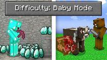 Minecraft but we're speedrunning baby mode..