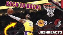 BACK TO BACK DUNKS! Portland Trail Blazers VS Los Angeles Lakers REACTION!
