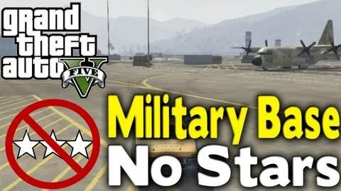 GTA 5 - GET INTO MILITARY BASE WITH NO STARS (How To Tutorial) GTA V