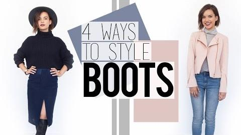 4 Ways to Style Boots Fall Fashion