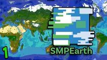 Minecraft But It's Literally A Map Of Earth (Minecraft SMP Earth 1)