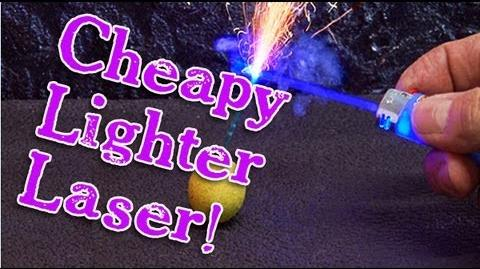 Amazing Lasers! - Cheapy Lighter Laser Burner!