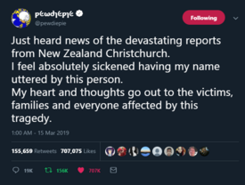PewDiePie responds to Christchurch shooting