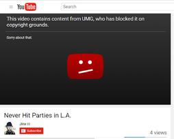 Jinx blocked video