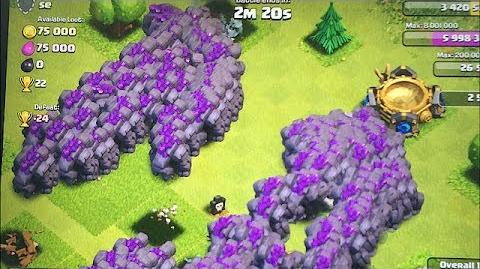 Clash of clans - 300 Golems & 300 Giants (mass Gameplay)