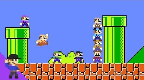 What if 8 Marios tried to beat Super Mario Bros