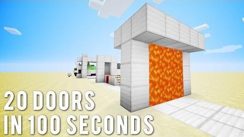 Minecraft 20 More Doors In 100 Seconds