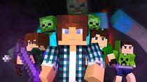 Minecraft Música ♫ - COM MEUS AMIGOS Animation Minecraft (Feat