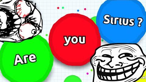 ARE YOU SIRIUS? Agario TROLLING IN TEAMMODE Agar