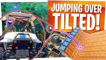 JUMPING OVER TILTED TOWERS in a KART in Fortnite