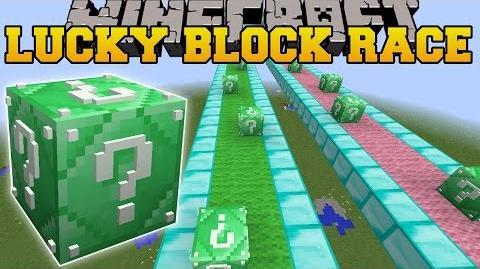 Minecraft INSANE EMERALD LUCKY BLOCK RACE - Lucky Block Mod - Modded Mini-Game