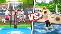INSANE 2HYPE Pool Mini Hoop Dunk Contest!