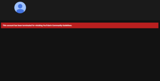 Community guidelines termination