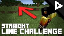 Walking in a STRAIGHT LINE in Survival Minecraft?! (Challenge)