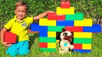 Vlad and Nikita Play with Colored Blocks