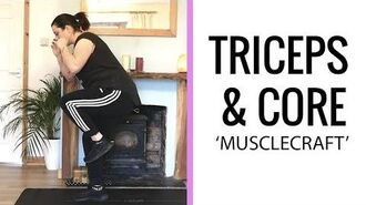 QUICK TRICEPS and CORE workout MUSCLECRAFT BEGINNER