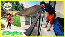 Ryan reta a su Papá a el desafío de 24 horas en el balcón durante la noche